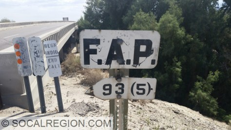 FAP (Federal Aid Primary) project sign on the 1957 bridge.