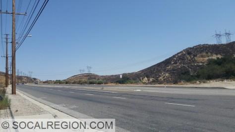 Sierra Highway between Placerita Canyon Road and Golden Valley Road.