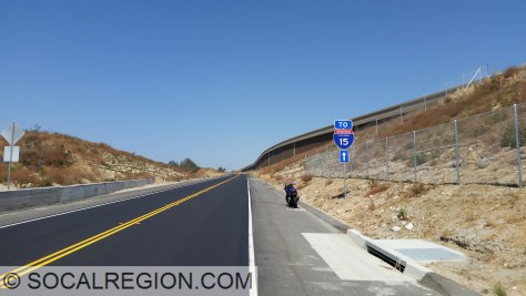 New section of Cajon Blvd adjacent of I-15, south of Kenwood Road.