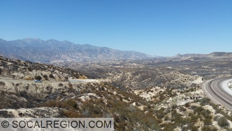 Hwy 138 and the Cajon Amphitheater from Summit.