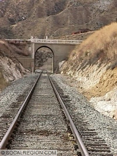 1938 railroad overhead on Soledad Canyon Road near Agua Dulce Canyon Road.