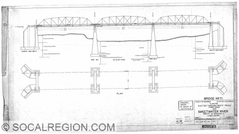 Portion of the plan set for the bridge from 1928.