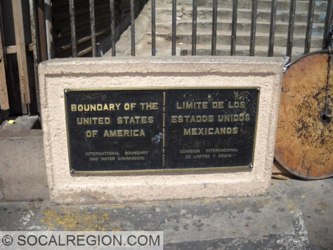 Border Monument at the San Ysidro crossing.