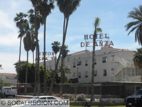 Damaged Hotel De Anza in Calexico.