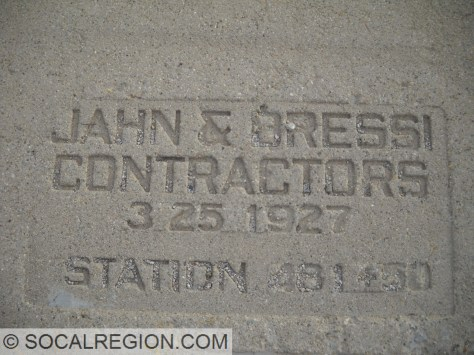 Date stamp on the In-Ko-Pah Gorge concrete