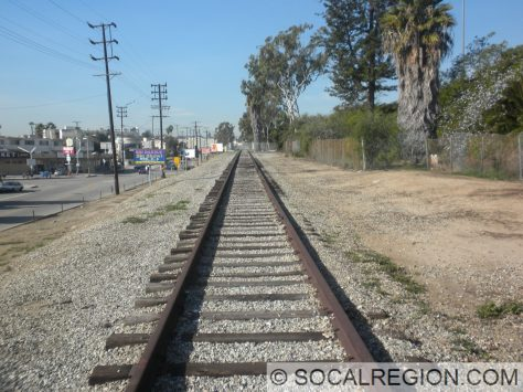 West towards National Blvd.