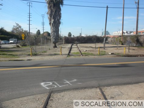 One of the few crossings with rails still intact.