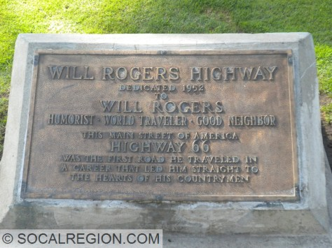 Will Rogers Highway, nice place for a plaque.