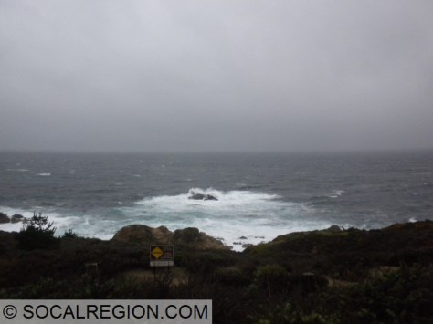 Winds and waves just south of Carmel Highlands.