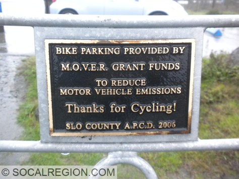 This was on the bike rack. Nice!