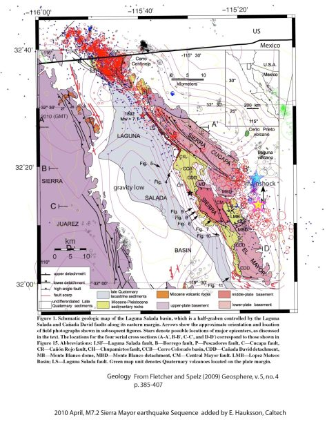 Map showing the earthquake and affected area.