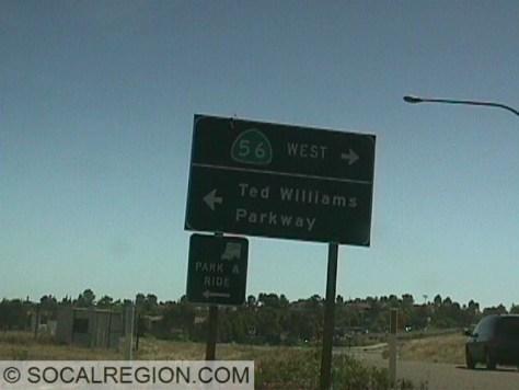 Signage at the 15 Freeway
