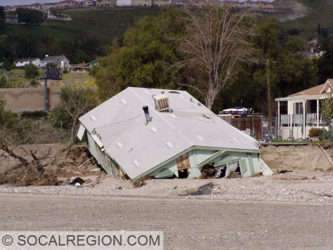 Flood damage from February 2005 near Sand Canyon Road.