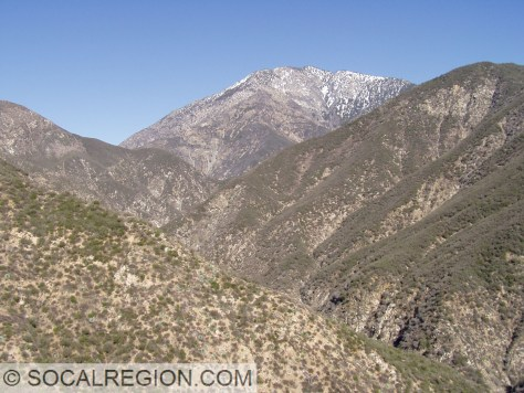 Mt San Antonio from the East Fork San Gabriel Canyon