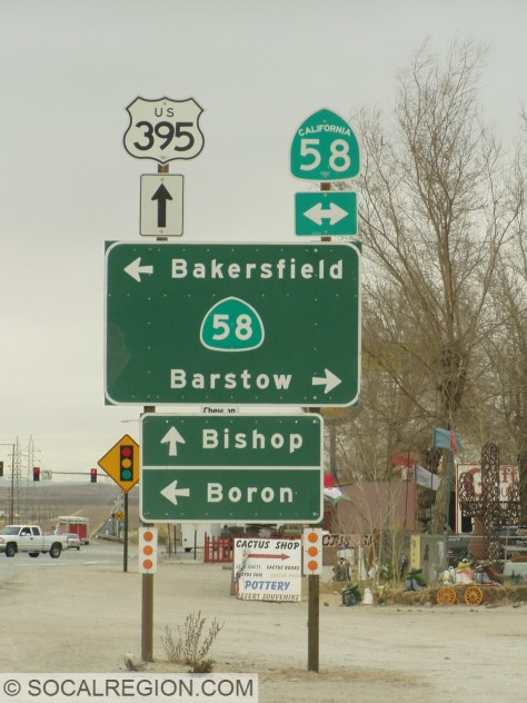 Kramer Junction - Formerly Beechers Corners - where you can go to Bakersfield, Barstow, Bishop, or Boron... all B's!