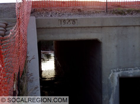 1948 Culvert at the former San Francisquito Creek crossing.