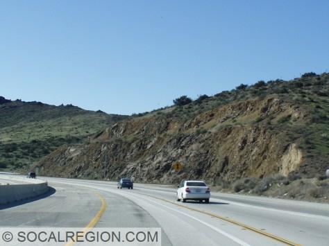 Oligocene Vasquez Formation basalts along the Antelope Valley Freeway (State 14).
