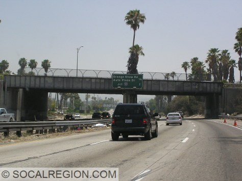 Former railroad overhead and bridge at Inland Center Drive.