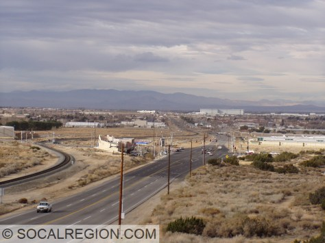 Looking toward Palmdale. Ave S intersection is in the middle ground.