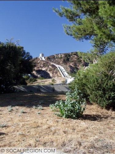 View of the cascades near Sylmar at the southern end of the Second Los Angeles Aqueduct.