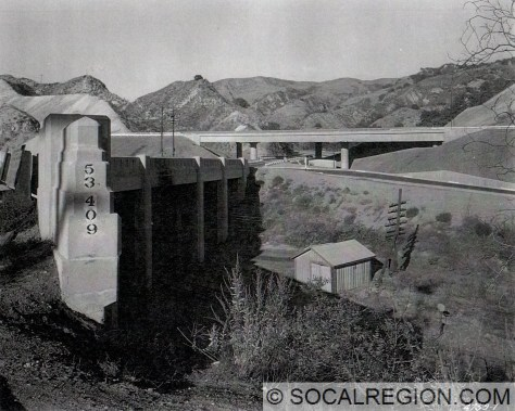 Tunnel Station Viaduct and the US 6 / US 99 interchange in 1955.