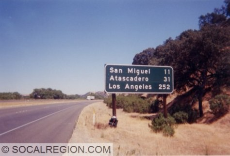 Only 252 more miles to Los Angeles! Of course, I was aiming for San Luis Obispo so, that didn't matter too much. 101 here has wide shoulders.