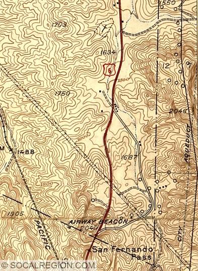 US US San Fernando Road Southern California Regional - Us road map 1930