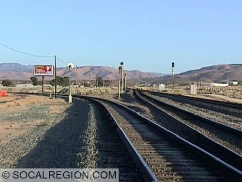 Palmdale Junction with the SP Colton Cutoff to the left.