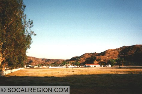 Former Saugus Speedway and horse stables in the late 1990's.