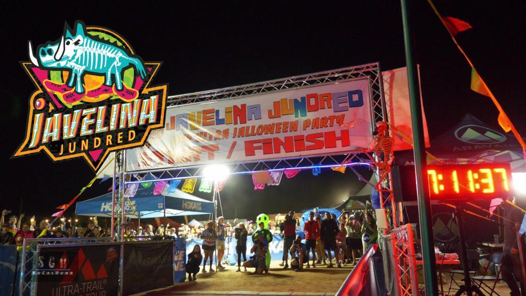 Showing the start/finish line of the Javelina Jundred 100 Mile Endurance Race