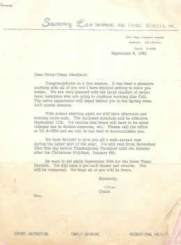 Sammy Lee letter