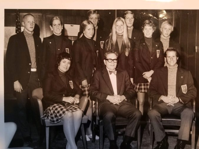 US Swimmers with Ambassador from Chile 1973