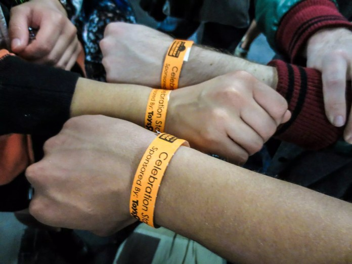 Flashback to Celebration Anaheim's wristband system for the Celebration Stage panel events.
