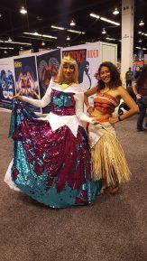 Princess Aurora shares the spotlight with Moana.