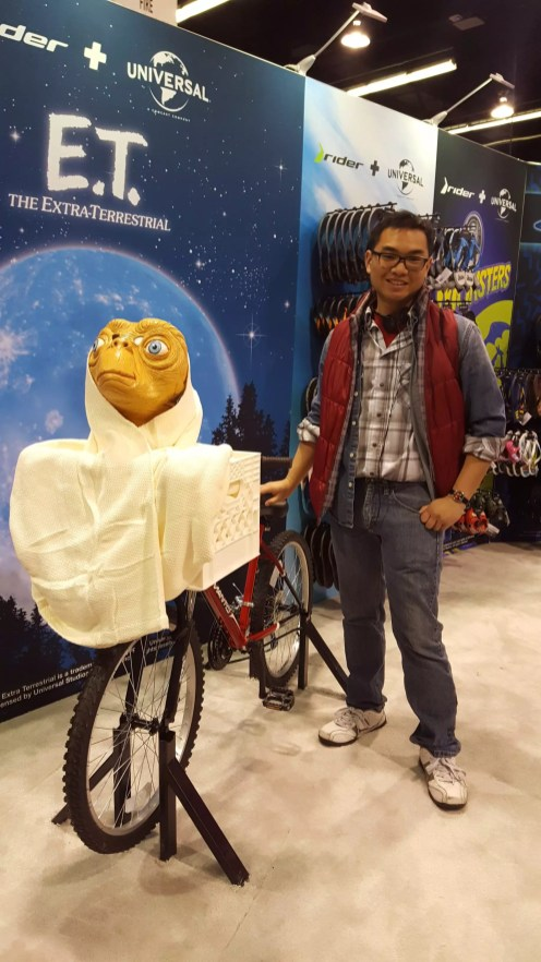 Time to phone home E.T. and fly a bike over the moon back to the future with Marty McFly!