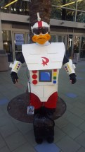 Gizmoduck is on patrol.