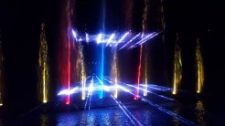 A world of colorful lights, water, and lasers