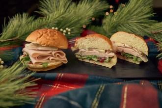 Deli style Turkey, Brie and Arugula Sandwich with a Boysenberry Cranberry Relish