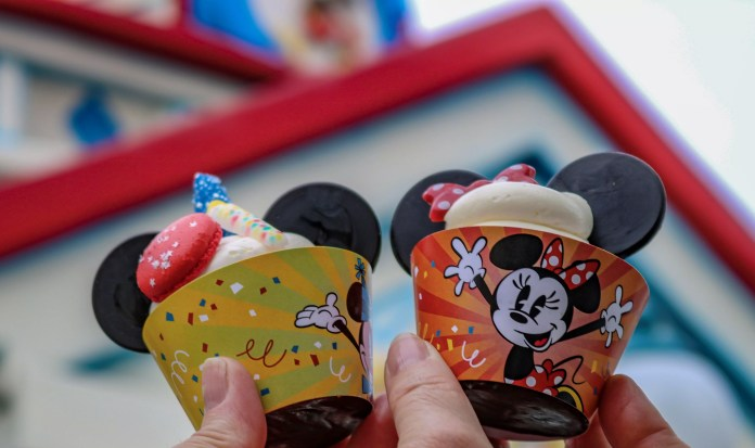 The adventure started out with these Mickey and Minnie chocolate chip cupcakes, each featuring decorative sweets that are perfect for that sweet tooth in your squad.