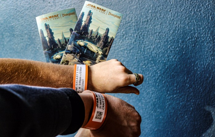 Wristbands will be scanned after you check in to prepare you for your journey!