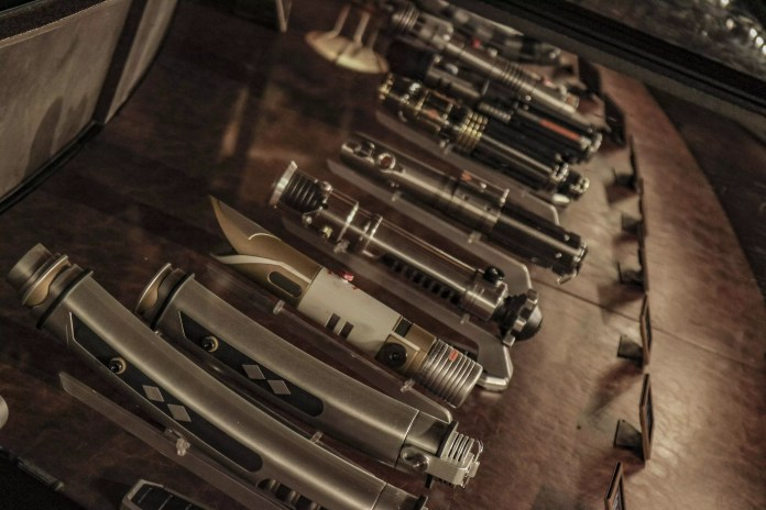 Comparing the available legacy lightsaber collection on opening night of Galaxy's Edge reservation-only previews versus the land's public debut in June.