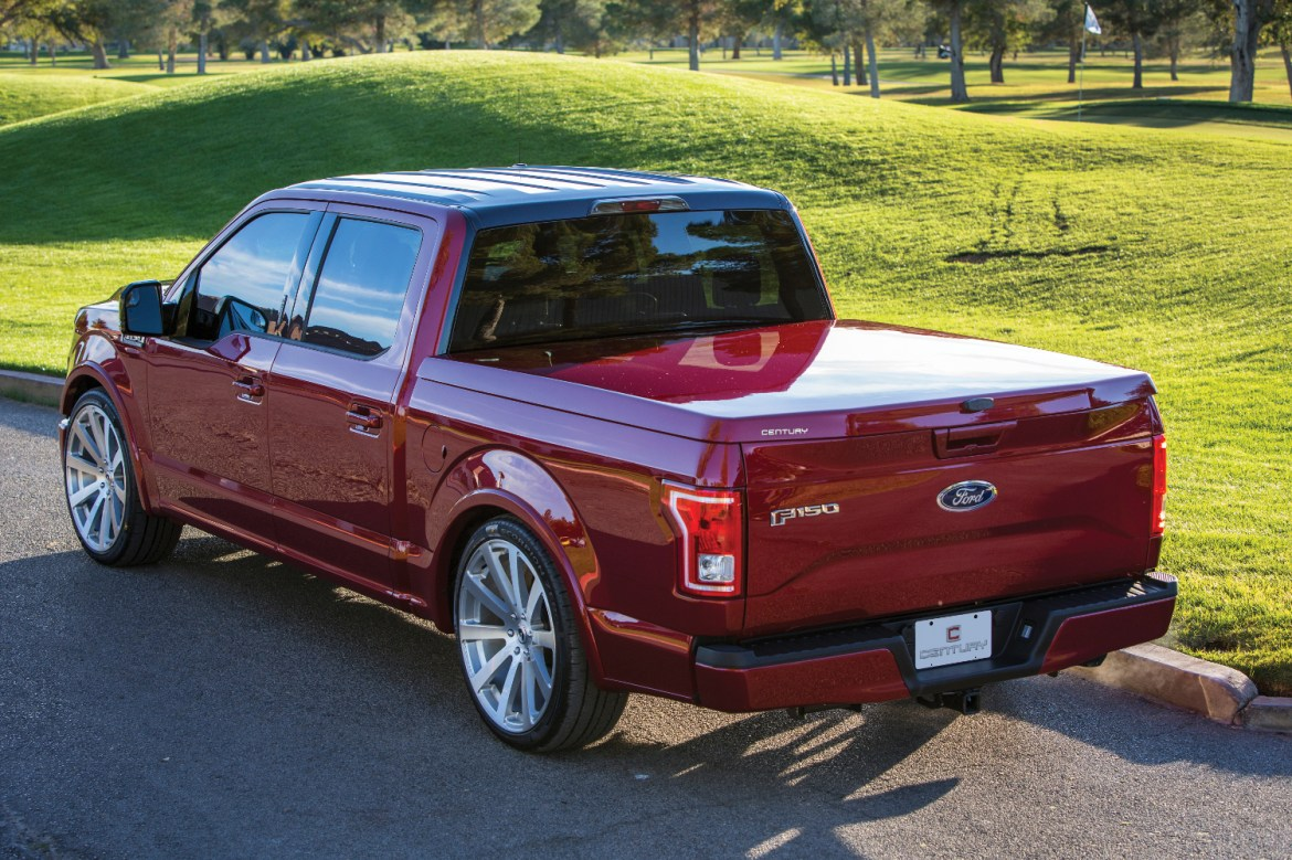 The Century Tonneau Cover Cargolid show installed on a Ford F150.