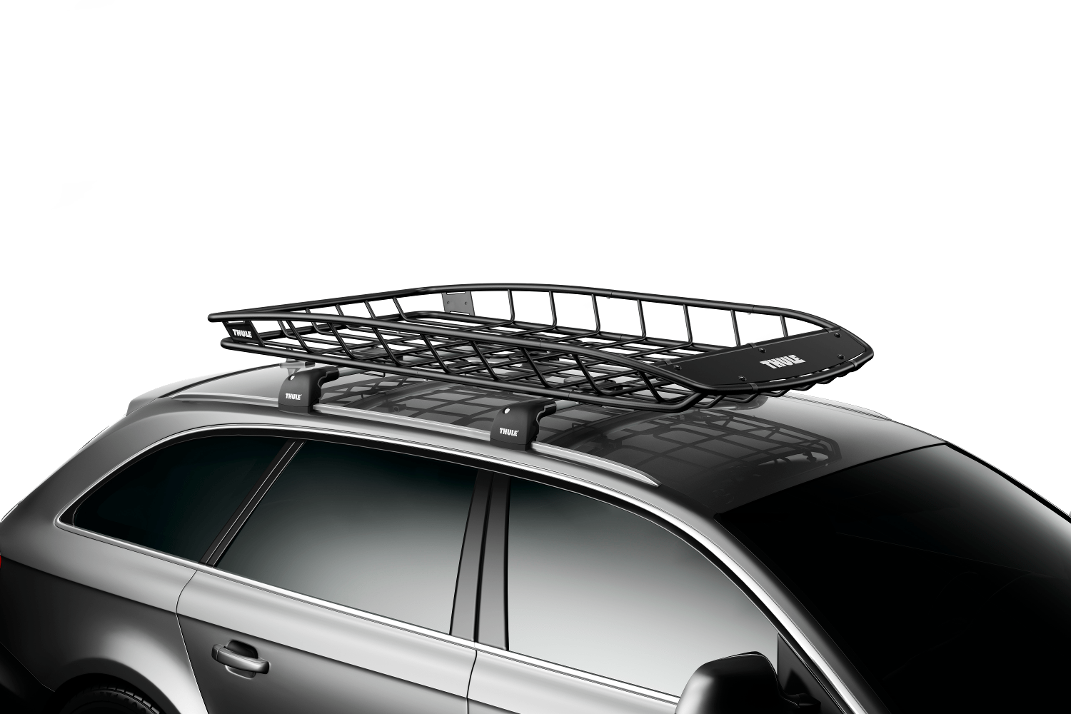 Thule Canyon XT roof basket with extension.