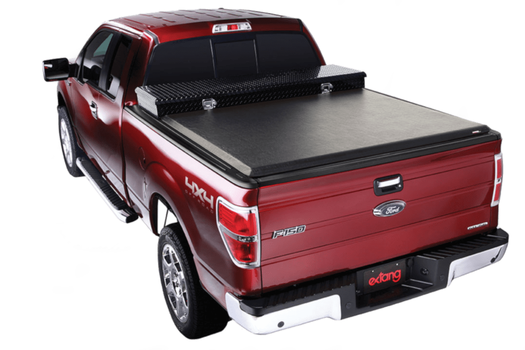 Extang Express Toolbox designed to fit most trucks with pre existing tool boxes.
