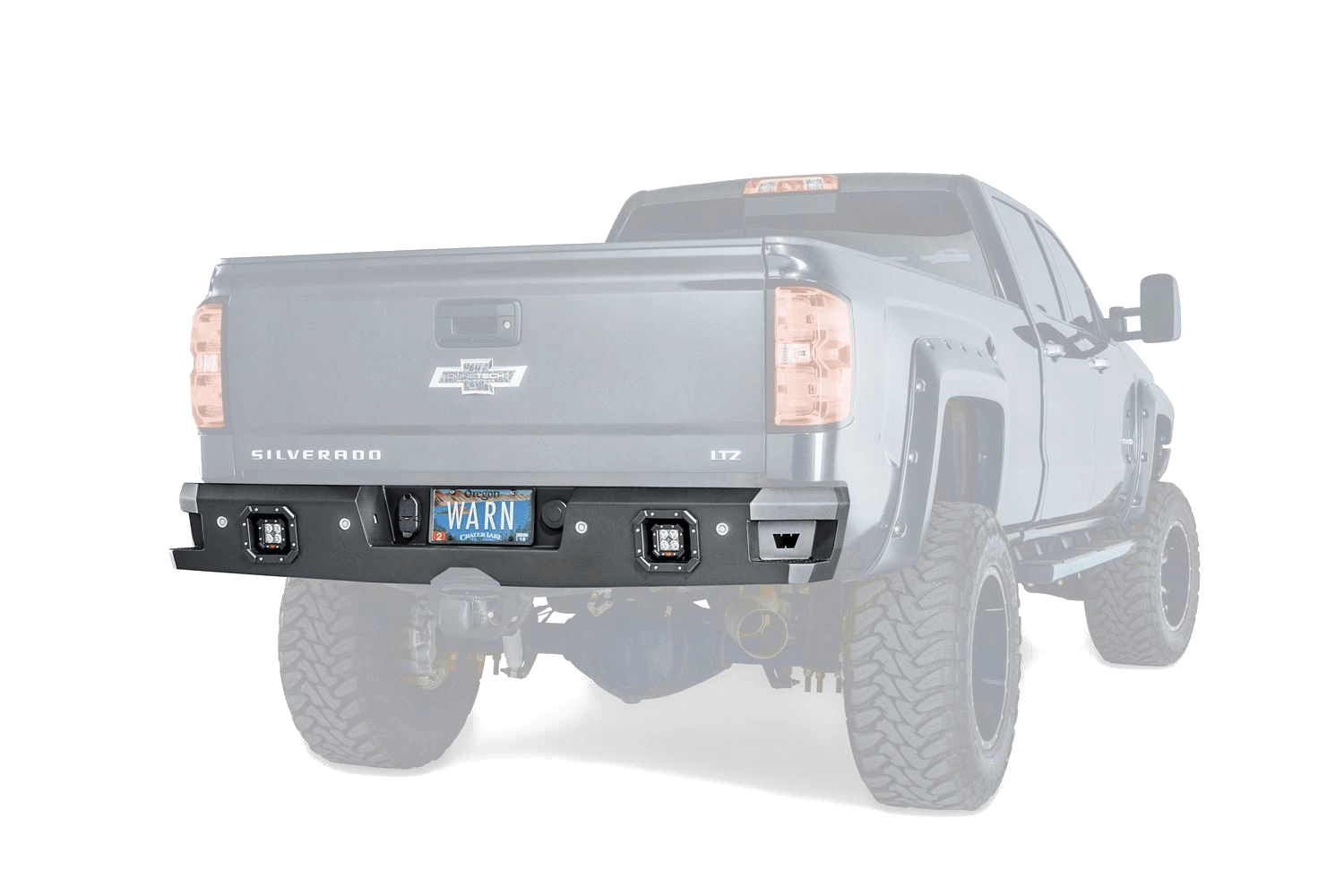 warn truck & suv bumpers chevy silverado ascent rear bumper 96550 warn industries bumpers