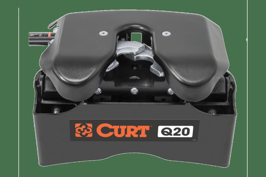Close up of a Curt 5th wheel Q20 hitch head.