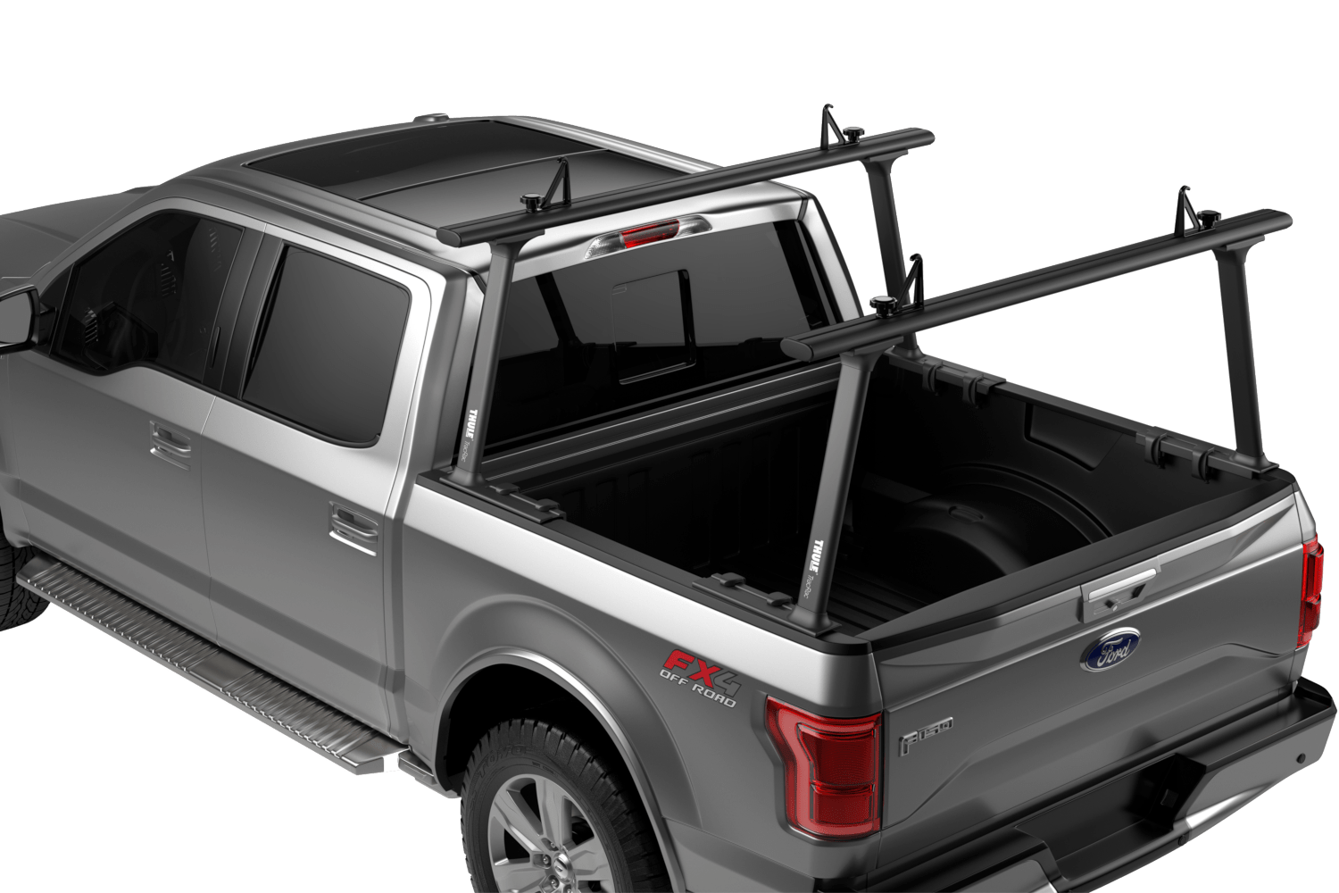Thule TracRac TracOne rack in black.