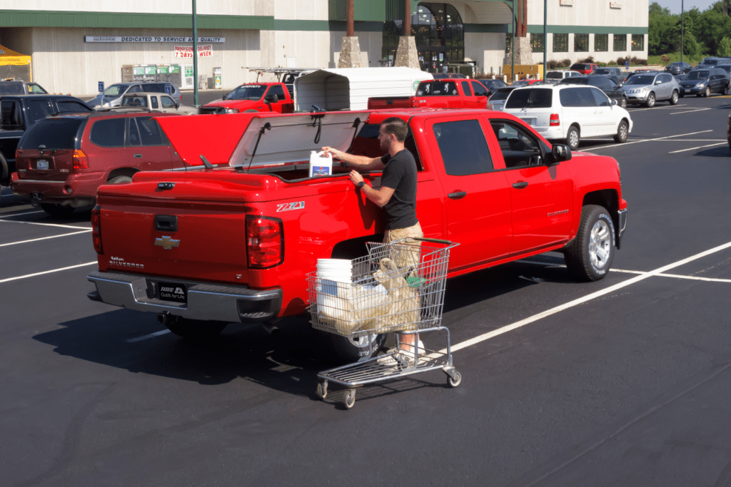 Have easy access to your truck bed with the ARE 3DL fiberglass tonneau cover.