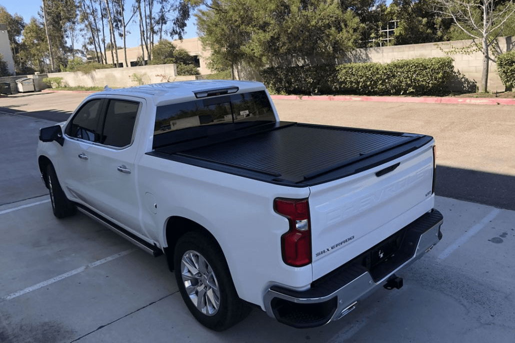 American roll cover shown installed on the new body 2019 Chevrolet Silverado.