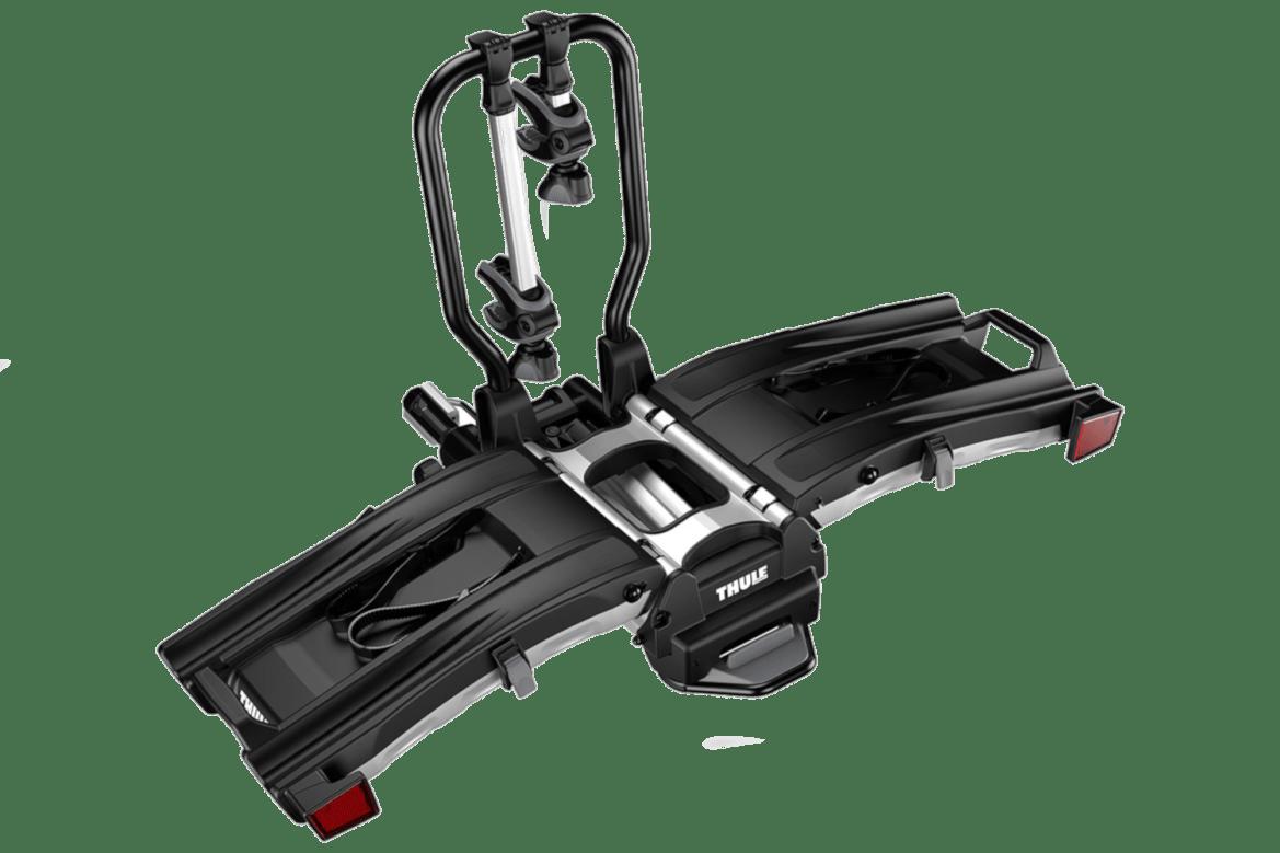 The Thule EasyFold XT 2 hitch mounted bike rack.